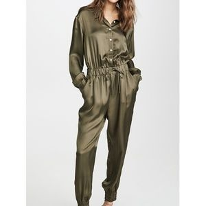 Beautiful Silk Full Size Jumpsuit With Zippers